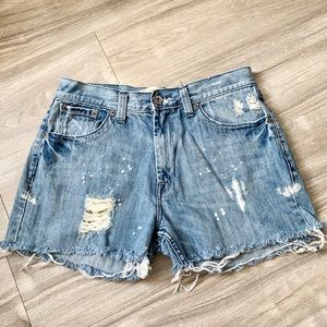 Arizona Cut Off Distressed Jean Shorts Size 10